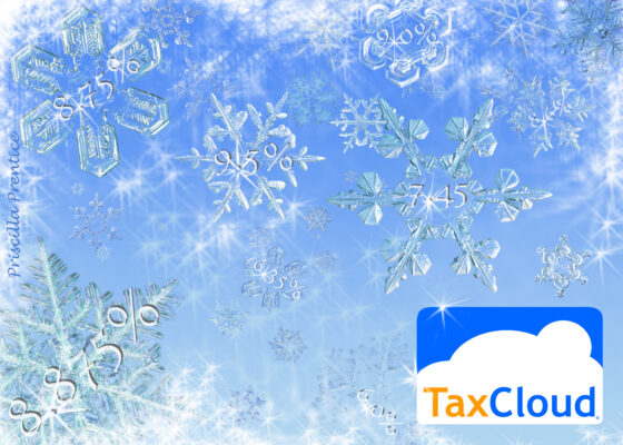 snow flakes with small sales tax rates