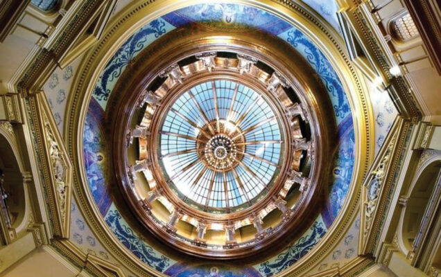 Kansas state house dome