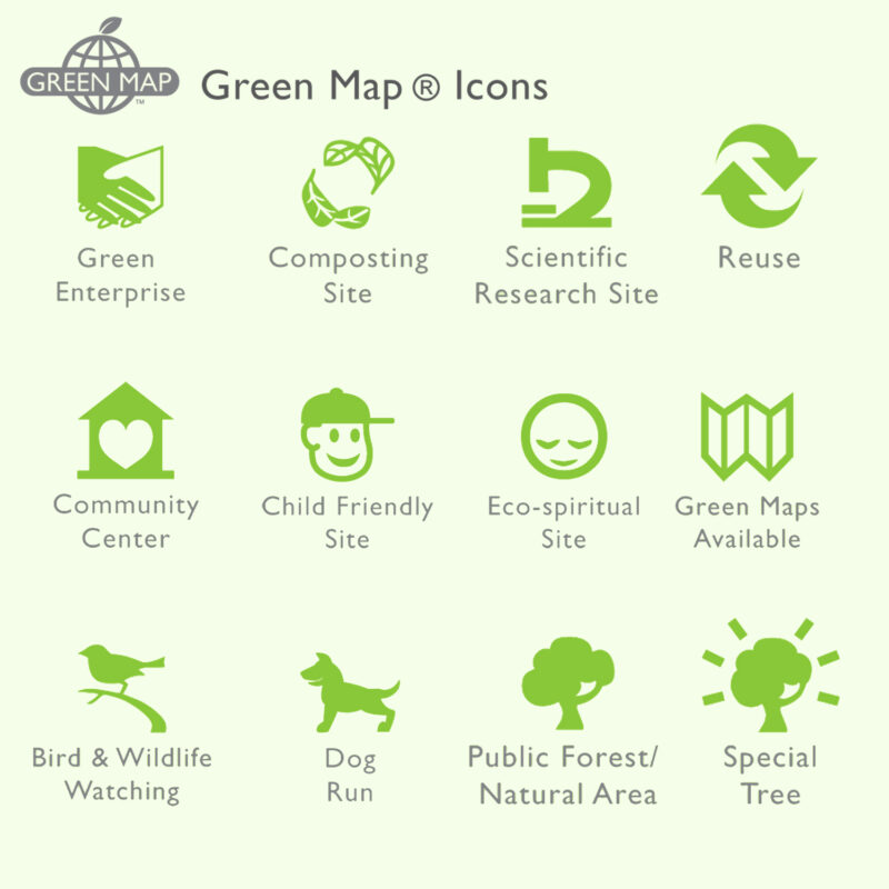 Samples of greenmap icons